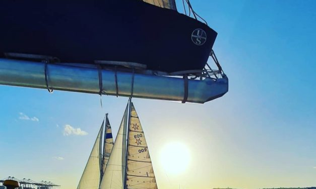 Point Yacht Club- Sailing at Sunset